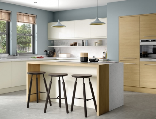 Strada – Matte Porcelain & Tavola Light Oak
